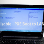 Nonaktifkan PXE Boot to LAN